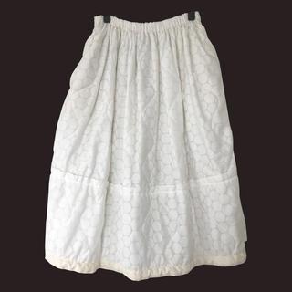 コムデギャルソン(COMME des GARCONS)のトリココムデギャルソン|2019SS キルティング中綿ドット柄スカート(ロングスカート)