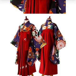 キャサリンコテージ(Catherine Cottage)の卒業式袴セット 着付簡単! 1回着用 165㎝ 紫猫(和服/着物)