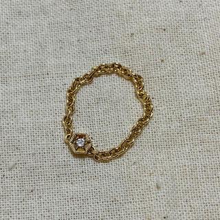 ココシュニック(COCOSHNIK)のココシュニック ダイヤ チェーンリング k10(リング(指輪))
