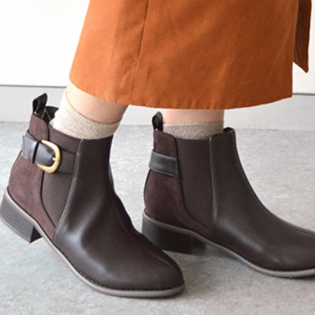 JELLY BEANS(ジェリービーンズ)の【未使用】【難あり】サイドゴアベルトブーツ レディースの靴/シューズ(ブーツ)の商品写真
