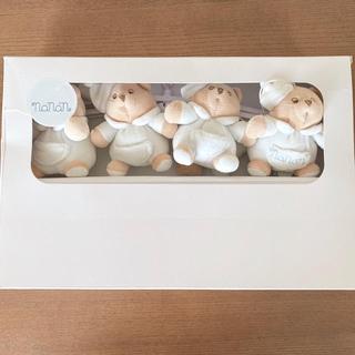 ファミリア(familiar)の【値下げ】nanan ベッドメリー ホワイト(オルゴールメリー/モービル)