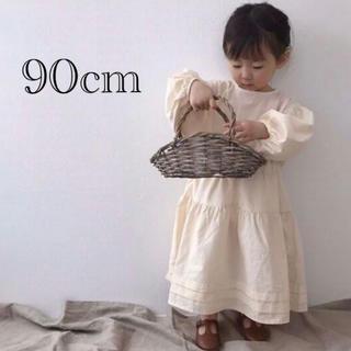 プティマイン(petit main)のロングワンピース 90cm(ワンピース)