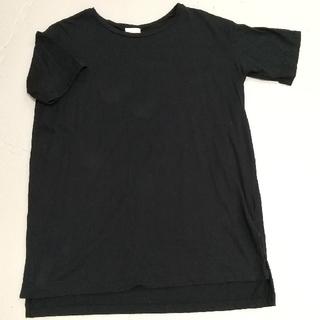 Tシャツ チュニック 黒 ブラック