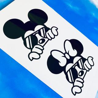 ディズニー(Disney)のミッキーマウス ミニーマウス Disney ロゴ ステッカー(ステッカー)