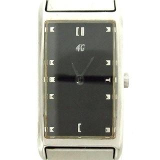 ヨンドシー(4℃)のヨンドシー 腕時計美品  - レディース 黒(腕時計)