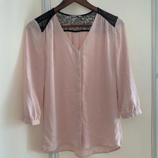 エイチアンドエム(H&M)の【H&M】ベビーピンクシャツ(シャツ/ブラウス(長袖/七分))
