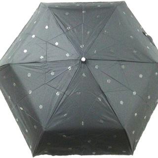 マリークワント(MARY QUANT)のマリークワント 日傘 - 黒 折りたたみ日傘(傘)