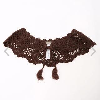 サマンサモスモス(SM2)のサマンサモスモス 手編みかぎ針ニット付け衿(つけ襟)