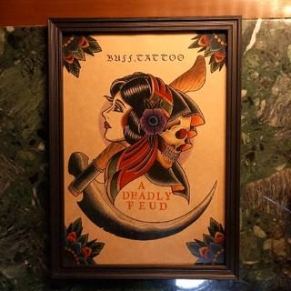 キャリー(CALEE)の「死神と女」A4サイズ 刺青 タトゥーフラッシュ(アート/写真)