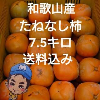和歌山県産 まーくん家のたねなし柿 7.5キロ箱(フルーツ)