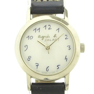 アニエスベー(agnes b.)のアニエスベー 腕時計美品  - V117-0AT0 白(腕時計)
