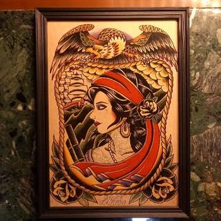 キャリー(CALEE)の「パイレーツ」A4サイズ 刺青 タトゥーフラッシュ(アート/写真)