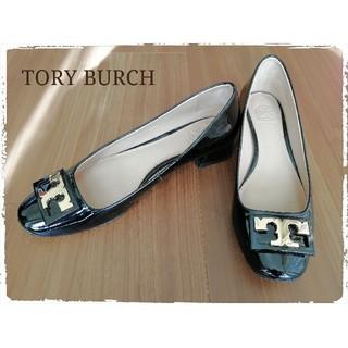 トリーバーチ(Tory Burch)のトリーバーチ エナメルパンプス 黒 23.0cm(ハイヒール/パンプス)