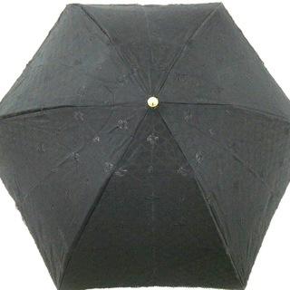セリーヌ(celine)のCELINE(セリーヌ) 日傘 - 黒 コットン(傘)