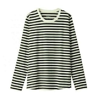 MUJI (無印良品) - コットンレーヨン 授乳に便利な長袖Tシャツ/マタニティTシャツ