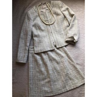 アオキ(AOKI)の【LES MUES】レ・ミュー*ツイードスカートスーツ(スーツ)