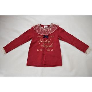 Shirley Temple - チュールドット襟 カットソー