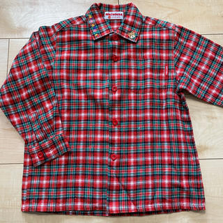 ミキハウス(mikihouse)の110 ミキハウス チェックシャツ 襟ロゴ(ブラウス)