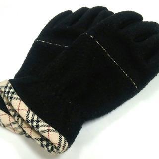 バーバリー(BURBERRY)のバーバリー 手袋 レディース - 黒 ウール(手袋)