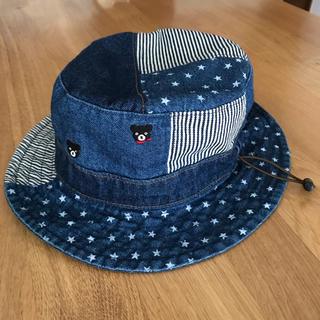 DOUBLE.B - ダブルビー パッチワークデニム帽子 美品