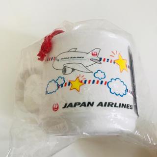 ジャル(ニホンコウクウ)(JAL(日本航空))のレア❗️非売品 JAL コップ 巾着袋(弁当用品)