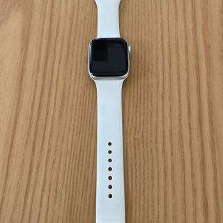 アップルウォッチ(Apple Watch)のApple Watch Series 4 GPSモデル 44mmシルバー(腕時計(デジタル))
