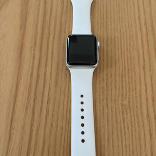 アップルウォッチ(Apple Watch)のApple Watch Series 3(GPSモデル)- 38mmシルバー(腕時計(デジタル))