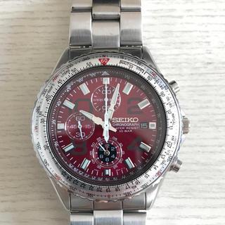セイコー(SEIKO)のSEIKO セイコー 腕時計 クロノグラフ(ストップウォッチ機能) ワインレッド(腕時計(アナログ))