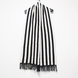 ラルフローレン(Ralph Lauren)のラルフローレン マフラー 黒×アイボリー(マフラー/ショール)