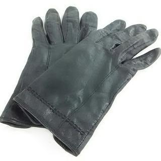 シビラ(Sybilla)のシビラ 手袋 レディース美品  黒 レザー(手袋)