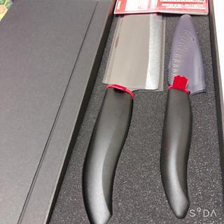 キョウセラ(京セラ)の京セラ菜切りナイフ(15cm)FKR-150HIP-FPと9.5cm 2本セット(調理器具)