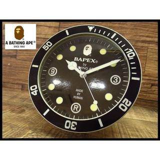 A BATHING APE - 非売品 BAPEX エイプ アベイシングエイプ ダイバーズデザイン 置き時計
