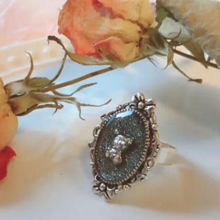 ブラックラメくまちゃんリング♡フリーサイズ 量産型 地雷メンヘラ ジャニオタロリ(リング(指輪))