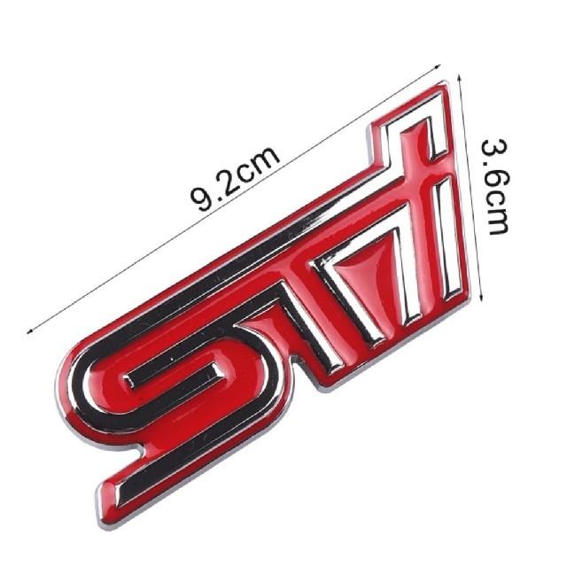 スバル(スバル)のSTI SUBARU エンブレムステッカー レヴォーグ インプレッサ BRZ 自動車/バイクの自動車(車外アクセサリ)の商品写真