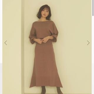 ノーブル(Noble)のCACHEC ミラノリブニットロングスカート(ロングスカート)