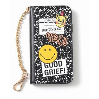 ドゥーズィエムクラス(DEUXIEME CLASSE)の【GOOD GRIEF!】SMILE patched iphone cover(iPhoneケース)