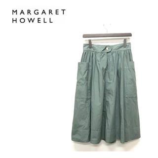 マーガレットハウエル(MARGARET HOWELL)のマーガレットハウエル/cotton タイプライタースカート(ひざ丈スカート)