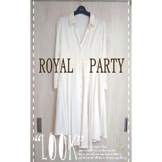ロイヤルパーティー(ROYAL PARTY)の♡ROYAL PARTY*°♡新品未使用訳あリロング羽織ワンピース*°♡(ロングワンピース/マキシワンピース)