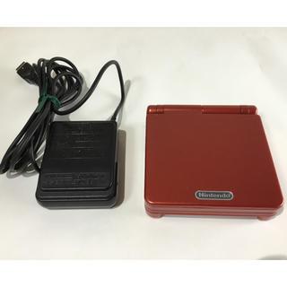 ゲームボーイアドバンス(ゲームボーイアドバンス)の美品 ゲームボーイ アドバンスSP レッド 充電器付属(携帯用ゲーム機本体)