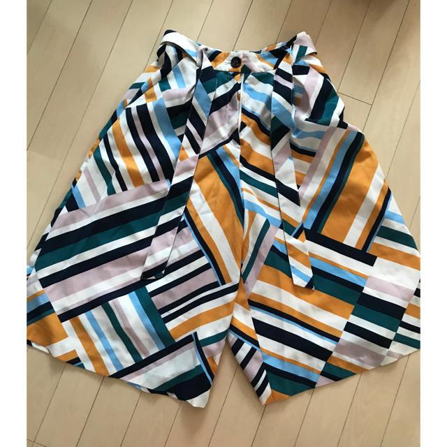 Lily Brown(リリーブラウン)のLilyBrown 幾何学ガウチョパンツ レディースのパンツ(カジュアルパンツ)の商品写真
