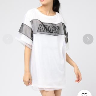ウィゴー(WEGO)の値下げ シースルーワンピースTシャツ(Tシャツ(半袖/袖なし))