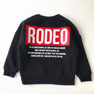 ロデオクラウンズワイドボウル(RODEO CROWNS WIDE BOWL)のRCWB ロデオクラウンズ トレーナー スウェット キッズS 100㎝(Tシャツ/カットソー)