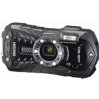 リコー(RICOH)のRICOH 防水デジタルカメラ RICOH WG-50 ブラック 防水14m耐シ(コンパクトデジタルカメラ)