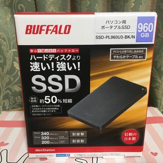 Buffalo - ポータブルSSD  960GB ブラック SSD-PL960U3-BK/N