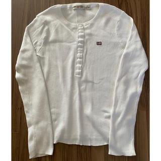 ラルフローレン(Ralph Lauren)のラルフローレン ポロ 長袖シャツ ロンT リブ ホワイト 白 S(Tシャツ(長袖/七分))