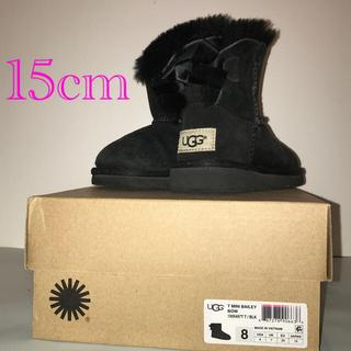アグ(UGG)のUGG ムートンブーツ MINI BAILEY BOW リボン 15cm(ブーツ)