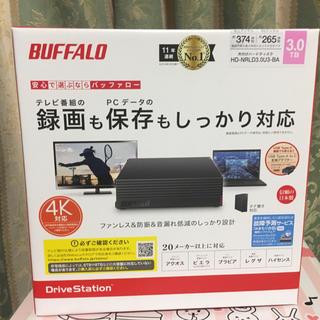 バッファロー(Buffalo)の新品未開封 バッファロー外付けHDD 3TB HD-NRLD3.0U3-BA(PC周辺機器)