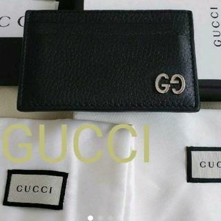 グッチ(Gucci)のGUCCI GGレザーカードケース ブラック(名刺入れ/定期入れ)