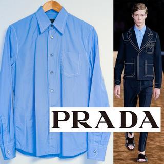 プラダ(PRADA)のprada 15ss ステッチ シャツ 39 (15 1/2)(シャツ)