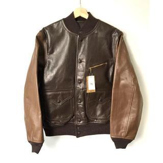 ダブルアールエル(RRL)の【H】RRL Meyers Leather Jacket 牛革 M(レザージャケット)